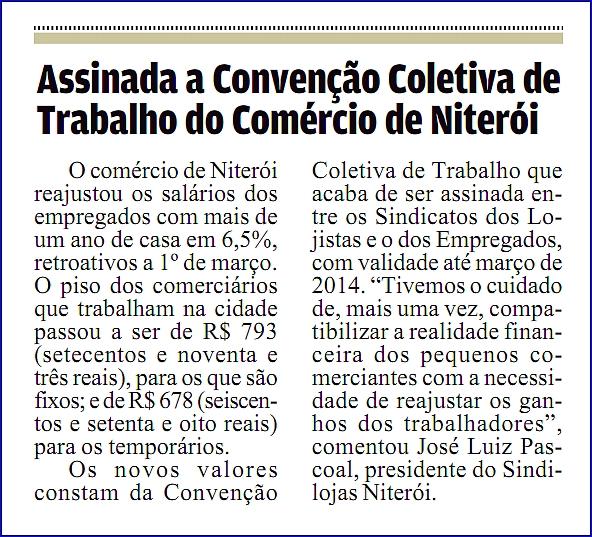 "Convenção Coletiva – ""Gazeta Niteroiense"" – Página 4 – 13/04/2013"